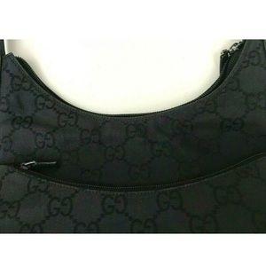 Gucci Bags - GUCCI GG LOGO NYLON LEATHER SHOULDER BAG HANDBAG